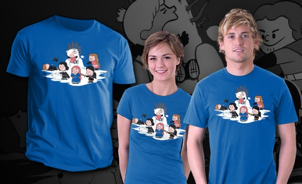 Winter is here Game of Thrones Peanuts mashup T-Shirt