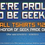 $12 T-Shirts in Tshirt Laundry Geek Pride Sale