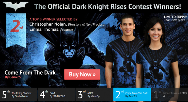 Come from the Dark Dark Knight Rises T-Shirt