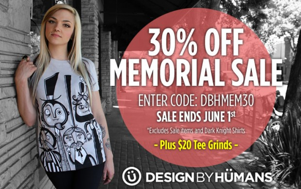30% Off in Design by Humans Memorial Sale