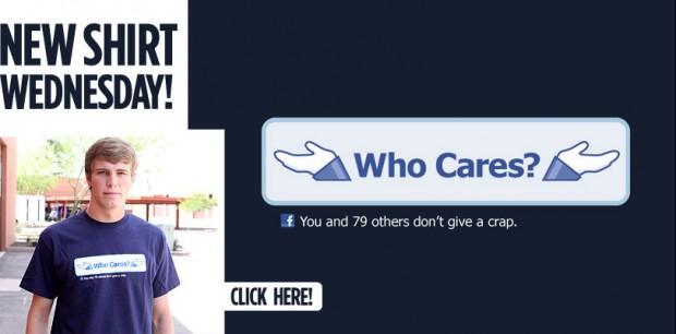 FACEBOOK: WHO CARES T-SHIRT