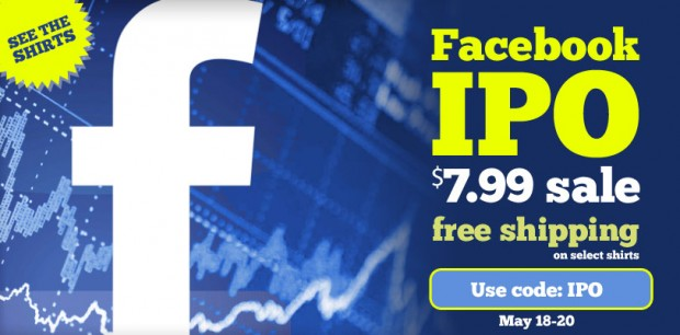 Facebook IPO Sale at LOLShirts