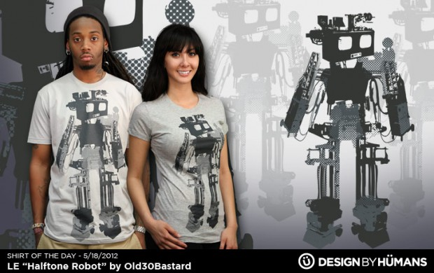 Limited Edition - Halftone Robot T-Shirt