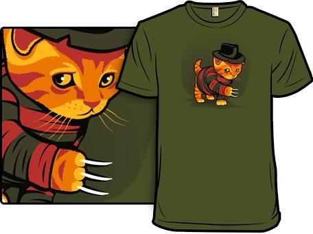 Nightmeow on Elm Street T-Shirt