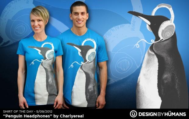 PENGUIN HEADPHONES T-Shirt