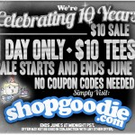 Goodie Two Sleeves $10 T-Shirts