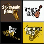 Guitar Hero Parodies from T-Shirt Hell