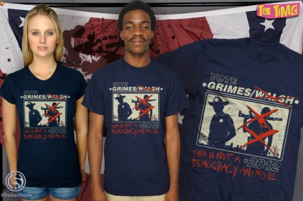 Vote Grimes Walking Dead T-Shirt