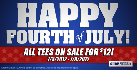 $12 T-Shirts in Tshirt Laundry 4th of July Sale