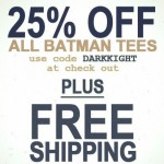 25% Off Batman Tees at Junk Food Clothing