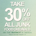 Get 30% off Junk Food Originals!
