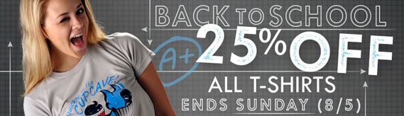25% off in Snorg Tees Back to School Sale