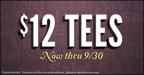 $12 T-Shirts from TShirt Laundry