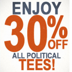 30% off Election Tees at Junk Food