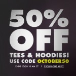 50 Percent off Tees and Hoodies at Threadless