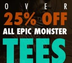 25% off Design by Humans Monster Tees