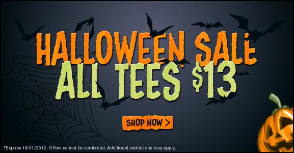 Halloween Sale TShirt Laundry