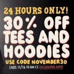30% off at Threadless
