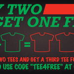 Buy Two Get One Free at Busted Tees