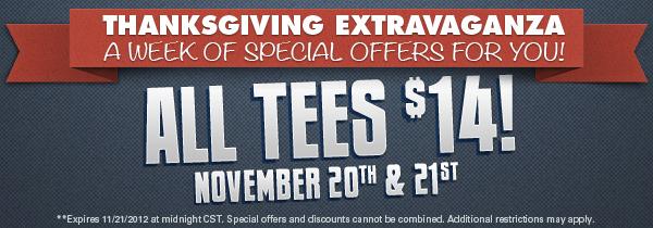 T-Shirt Laundry Thanksgiving Sale