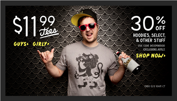 Threadless $11.99 Tees Banner