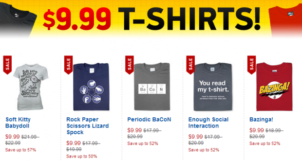 ThinkGeek -- TShirt Deals