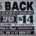 Busted Tees TV T-Shirt Sale
