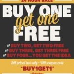 Buy One Get One Free at Busted Tees
