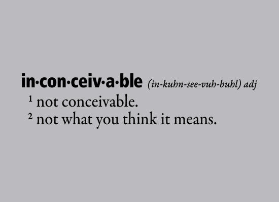 Inconceivable Definition T-Shirt