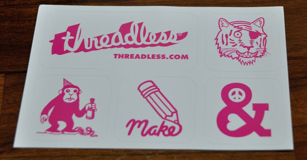 Threadless Sticker Sheet