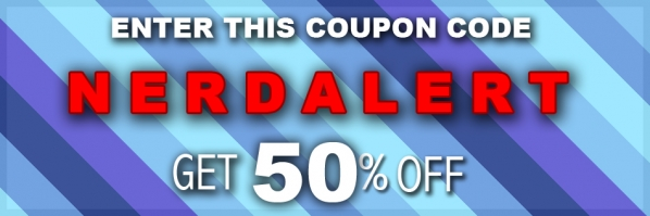 50 Percent off at Nerdy Shirts