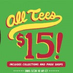 All tees $15 at Threadless this Weekend