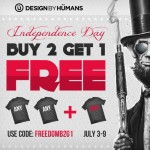 Buy two get one free at Design by Humans