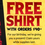 Free Anniversary Shirt at ThinkGeek