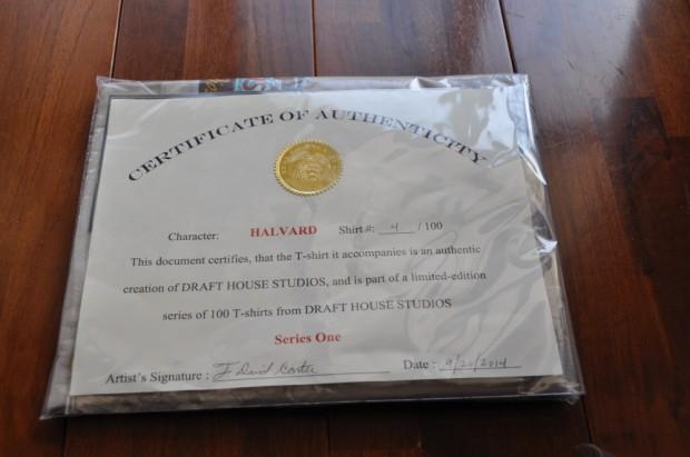 Draft House Studios Certificate