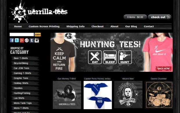 Guerrilla Tees Website