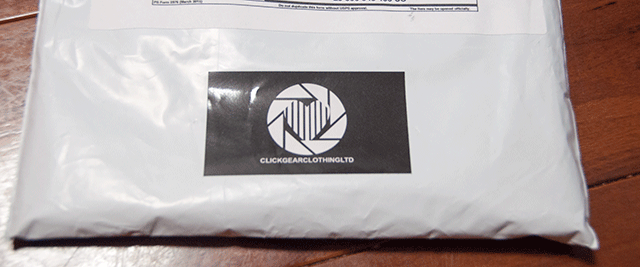 Click Gear Clothing Mailer and Sticker