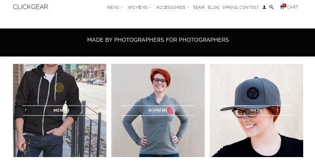 Click Gear Clothing Website
