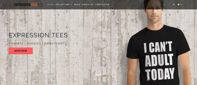 Expression Tees Site Review