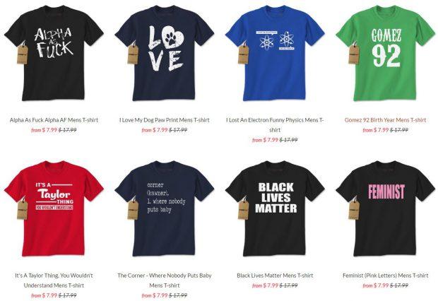 $7.99 T-Shirts at Expression Tees