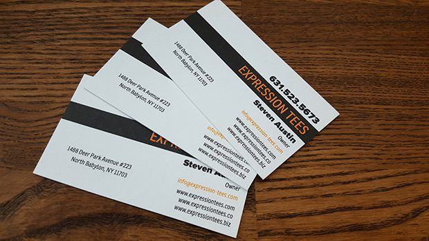 Expression Tees Business Cards