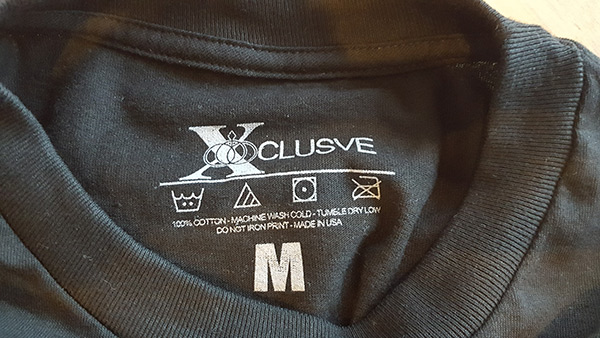XCLUSVE Printed Label