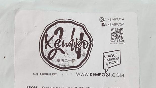 Kempo24 Package Label